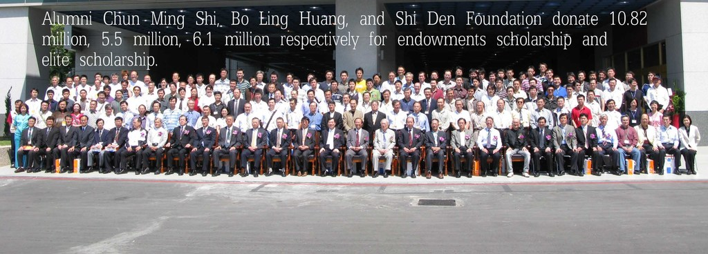 Alumni Chun Ming Shi, Bo Ling Huang, and Shi Den Foundation donate 10.82 million, 5.5 million, 6.1 million respectively for endowments scholarship and elite scholarship.(Open new window)